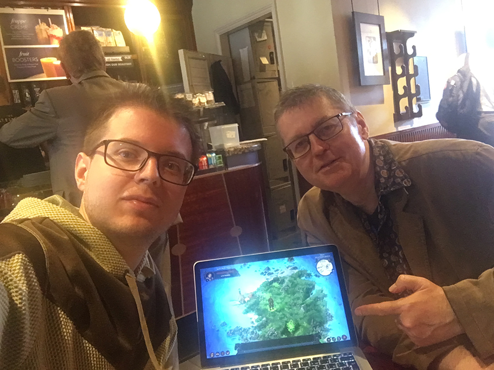 Meeting with Dave Morris in London